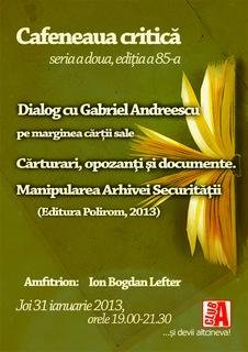 Cafeneaua critica 85 Gabriel Andreescu AFIS