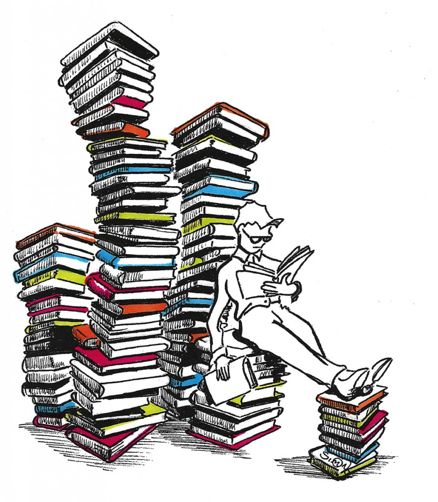 person-reading-lots-of-books-in-piles-drawing-symatt