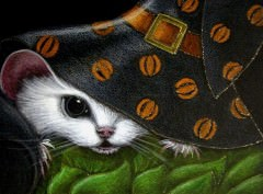 WHITE-RAT-MICE-MOUSE-HALLOWEEN-WITCH-HAT-7
