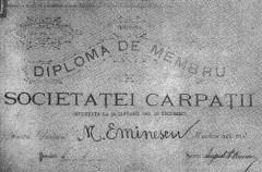 Eminescu Societatea Carpatii Marea Unire Dacia Mare