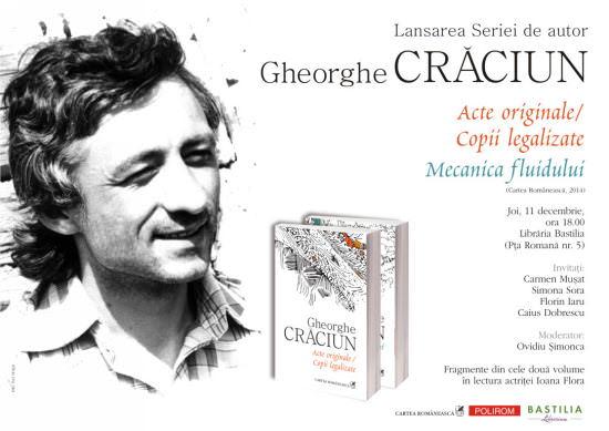 Afis_lansare_Gheorghe_Craciun_Bucuresti
