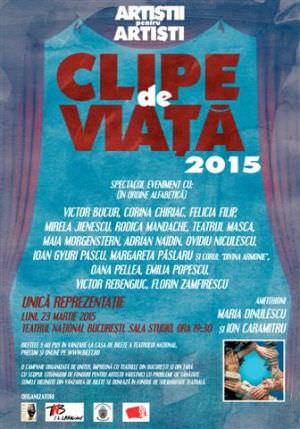 Clipe de viata 2015. Afis. grafica Cosmin Ardeleanu