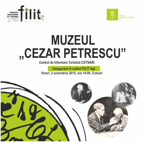 "Inaugurare Muzeu ""Cezar Petrescu"""