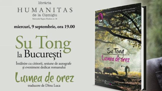 Întâlnire cu scriitorul chinez Su Tong @ Librăria Humanitas de la Cişmigiu   București   Municipiul București   România