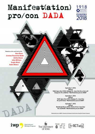 Romanian Writers and Artists Present the Project Manifest(ation) pro_con DADA  in Iowa